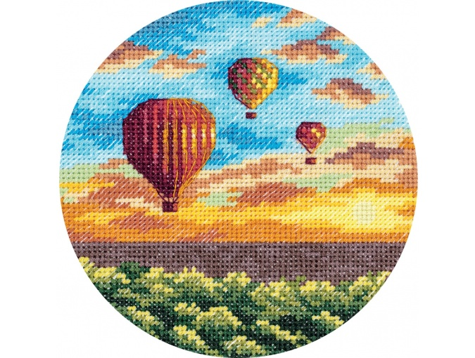 Air Balloons at Sunset Cross Stitch Kit фото 1
