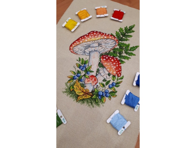 Fly-agarics Cross Stitch Pattern фото 5