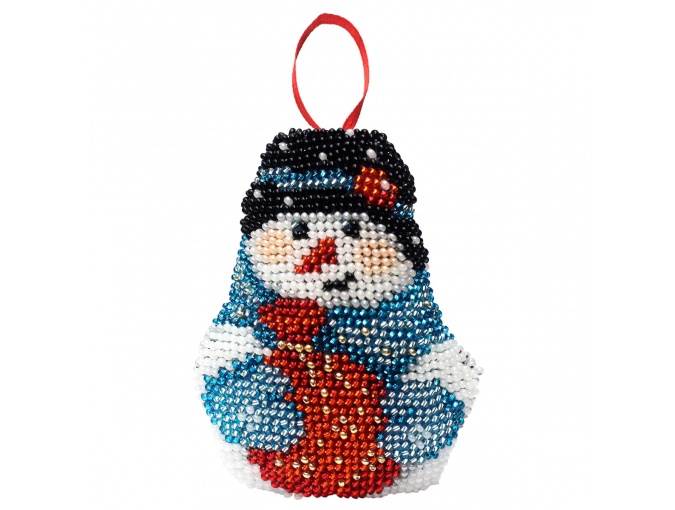 New Year's Toy Snowman Bead Embroidery Kit фото 1