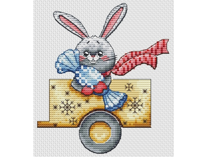 Christmas Truck Cross Stitch Pattern фото 3