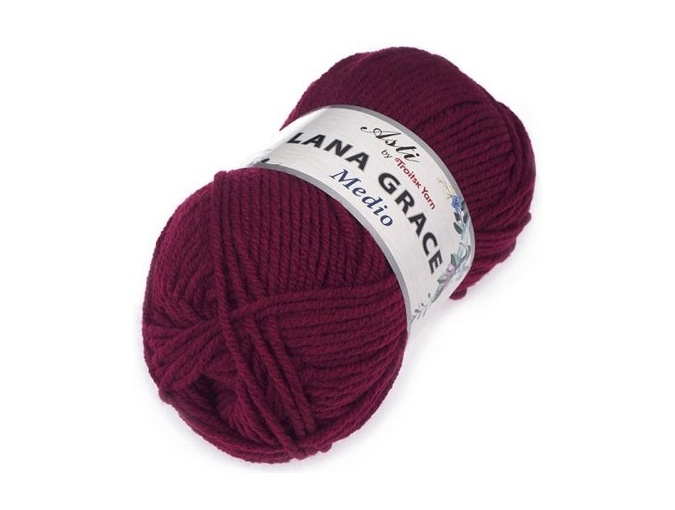 Troitsk Wool Lana Grace Medio, 25% Merino wool, 75% Super soft acrylic 5 Skein Value Pack, 500g фото 6