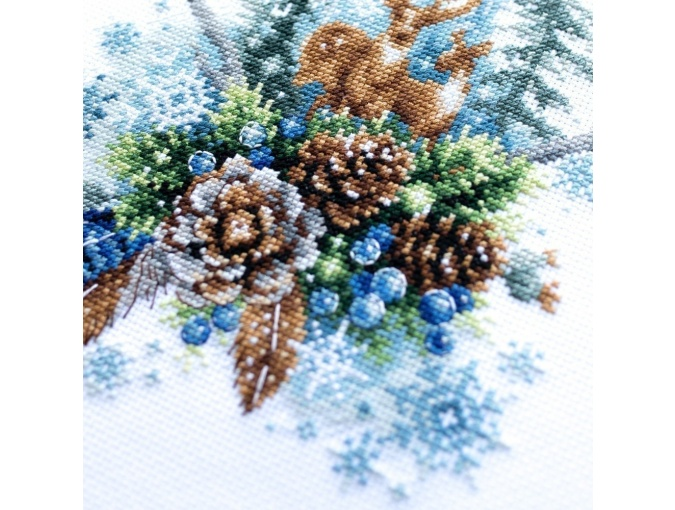 Winter Forest Spirit Cross Stitch Kit фото 6