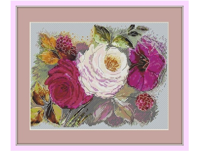 Pink Etude Cross Stitch Pattern фото 1