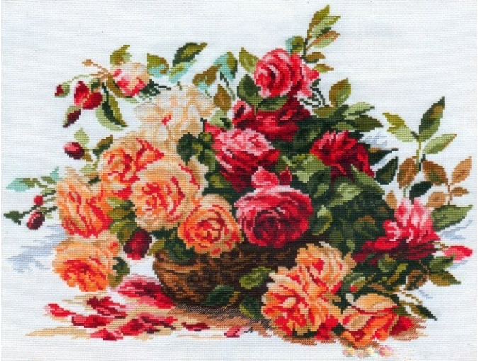 Red Roses Cross Stitch Kit фото 1