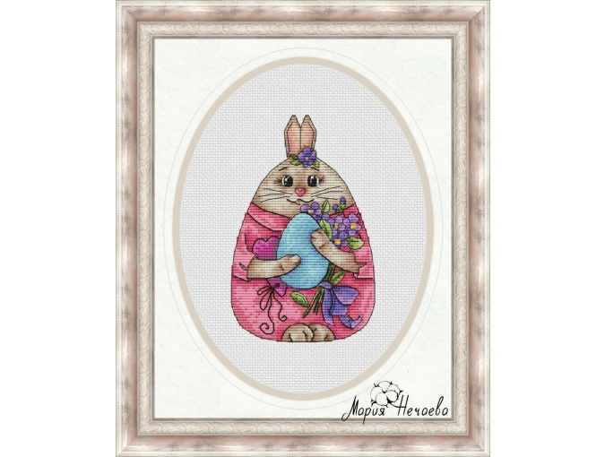 Egg Girl Cross Stitch Pattern фото 1