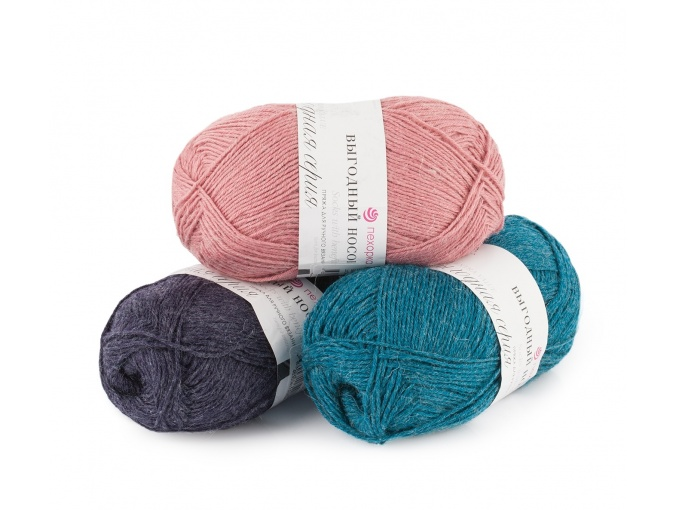 Pekhorka Socks with benefits, 40% Wool, 60% Acrylic 5 Skein Value Pack, 500g фото 1
