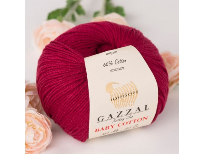 Gazzal Baby Cotton, 60% Cotton, 40% Acrylic 10 Skein Value Pack, 500g фото 66