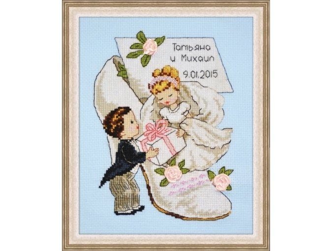 Wedding Announcement 4 Cross Stitch Kit фото 1