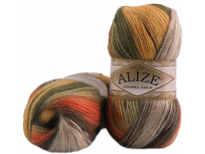 Alize Angora Gold Batik, 10% mohair, 10% wool, 80% acrylic 5 Skein Value Pack, 500g фото 50
