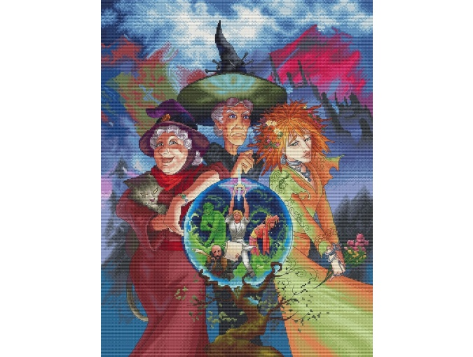 Witches Sisters Cross Stitch Pattern фото 1