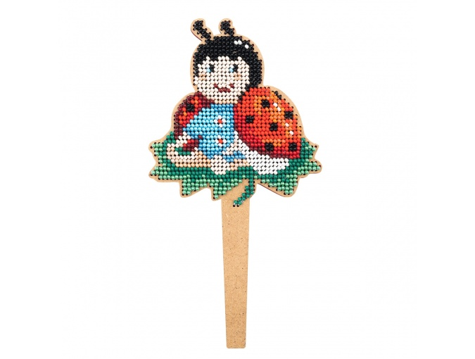 Ladybug Topper Bead Embroidery Kit фото 1