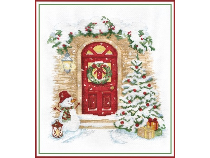 Holiday Knocks at the Door Cross Stitch Kit фото 1
