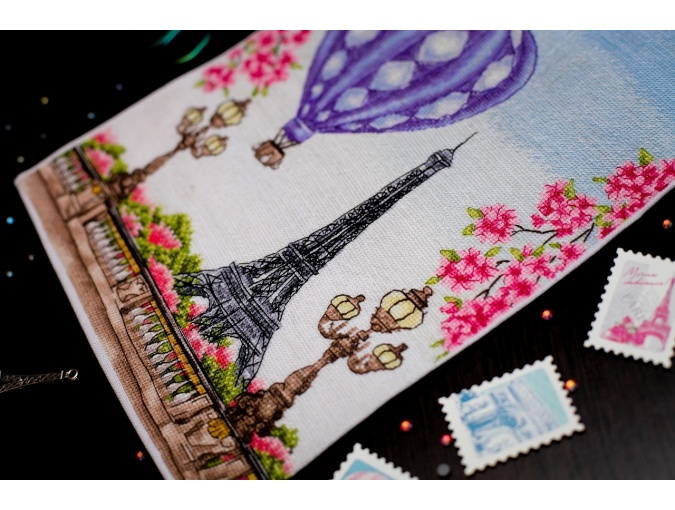 Spring in Paris Cross Stitch Chart фото 5