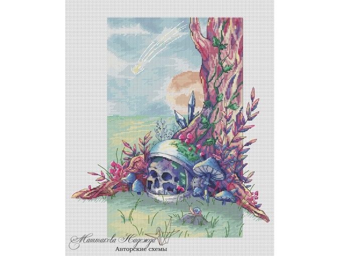 On an Alien Planet Cross Stitch Pattern фото 1