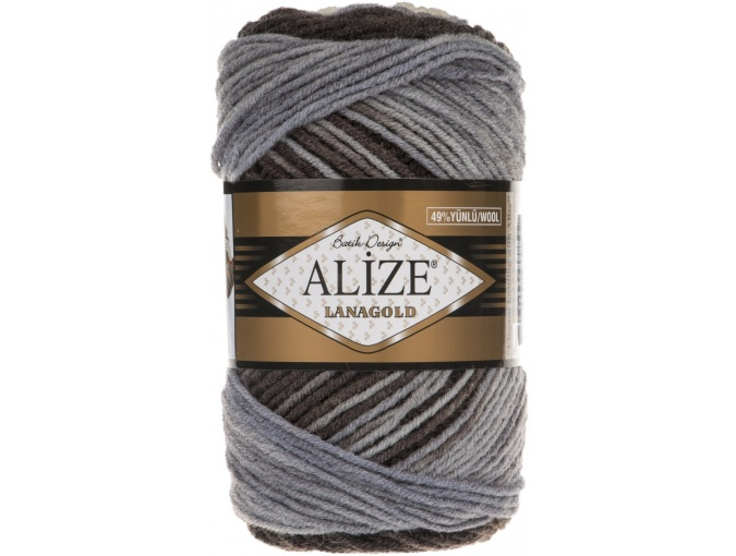 Alize Lanagold Batik 49% Wool, 51% Acrylic, 5 Skein Value Pack, 500g фото 3
