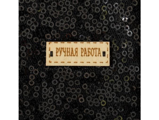Black Sequins Patchwork Fabric фото 3