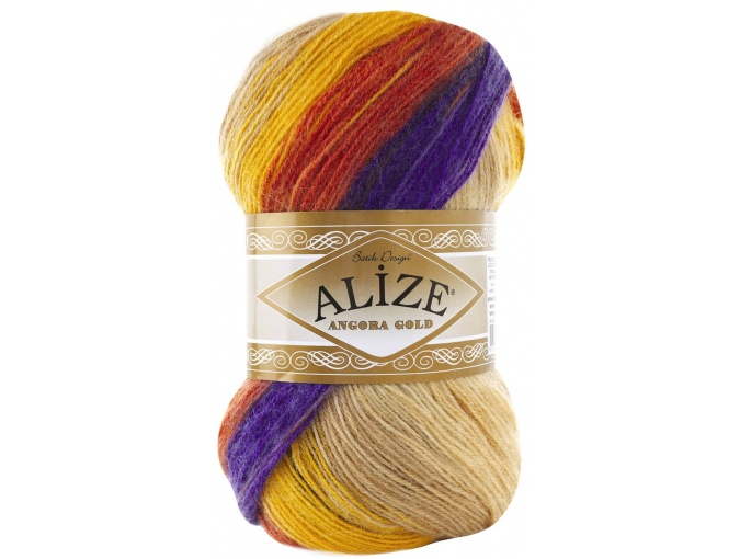 Alize Angora Gold Batik, 10% mohair, 10% wool, 80% acrylic 5 Skein Value Pack, 500g фото 51