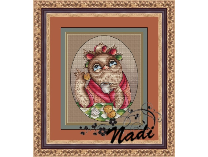 Auntie Owl Cross Stitch Pattern фото 1