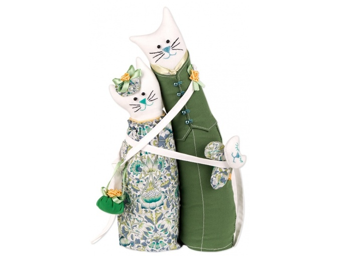 Jade Cat Couple Toy Sewing Kit фото 1