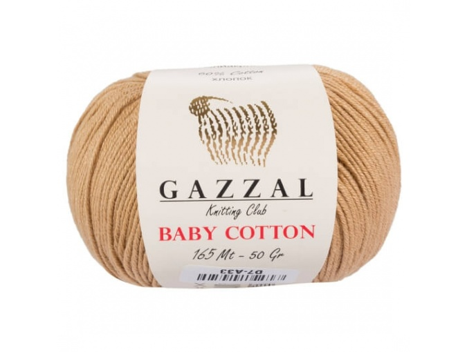 Gazzal Baby Cotton, 60% Cotton, 40% Acrylic 10 Skein Value Pack, 500g фото 30