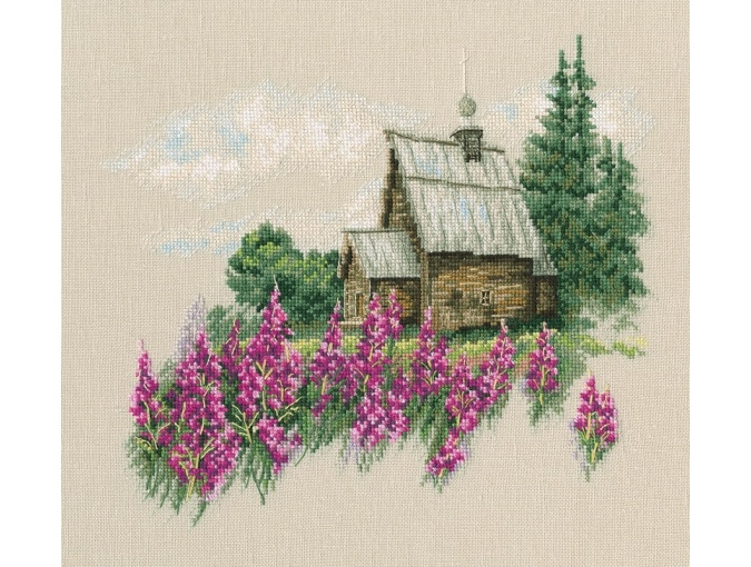 Warm Peace of the Bloomy Summer Cross Stitch Kit фото 1
