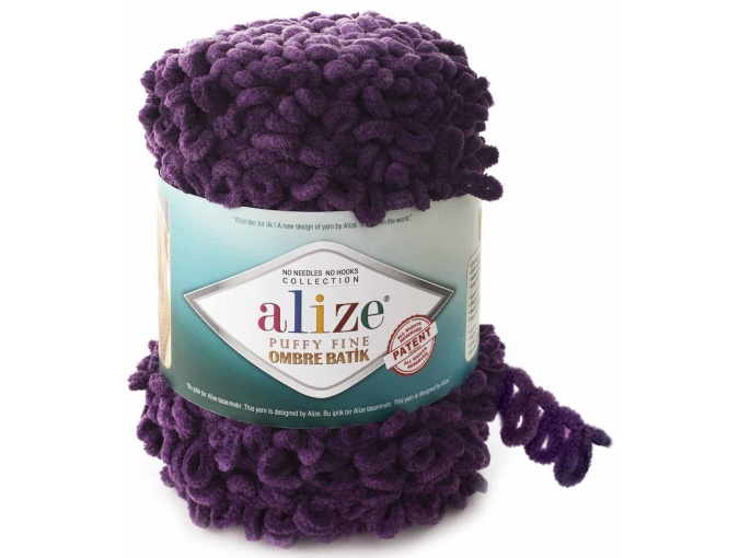 Alize Puffy Fine Ombre Batik, 100% Micropolyester 1 Skein Value Pack, 500g фото 9