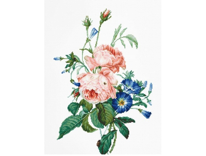 Bouquet with Roses and Bindweed Cross Stitch Kit фото 1