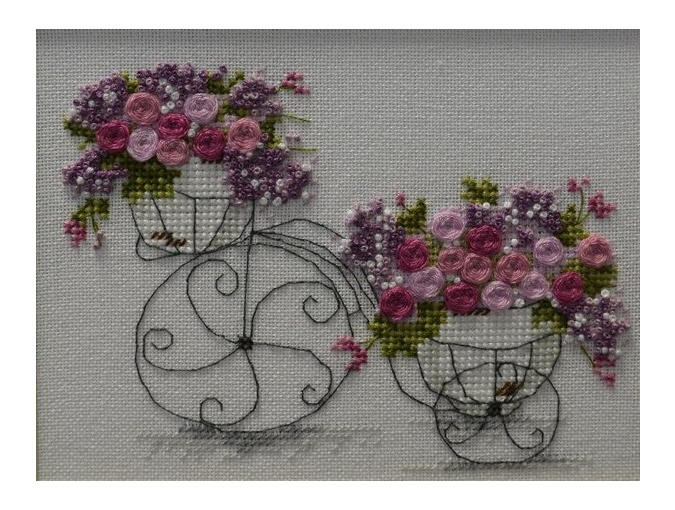 Flower Bike Cross Stitch Pattern фото 2