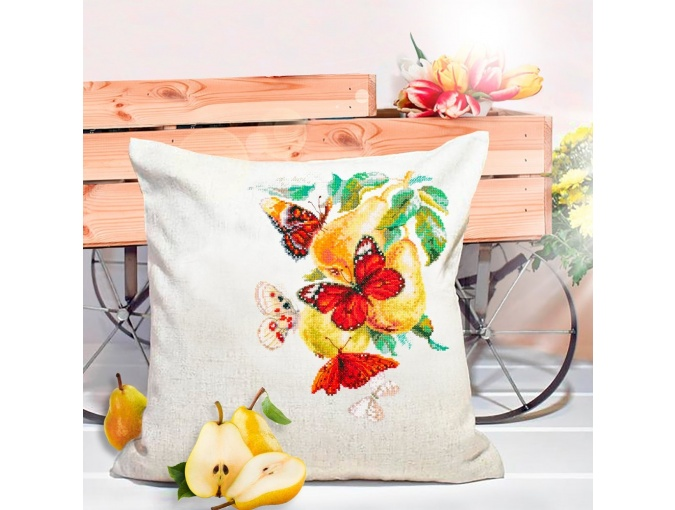 Butterflies and Pears Cross Stitch Kit фото 5