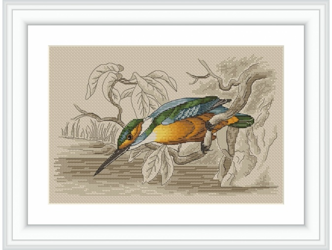 Kingfisher Cross Stitch Pattern фото 1