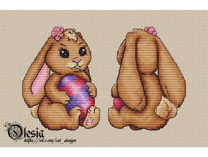 Toy Easter Bunny 2 Cross Stitch Pattern фото 1