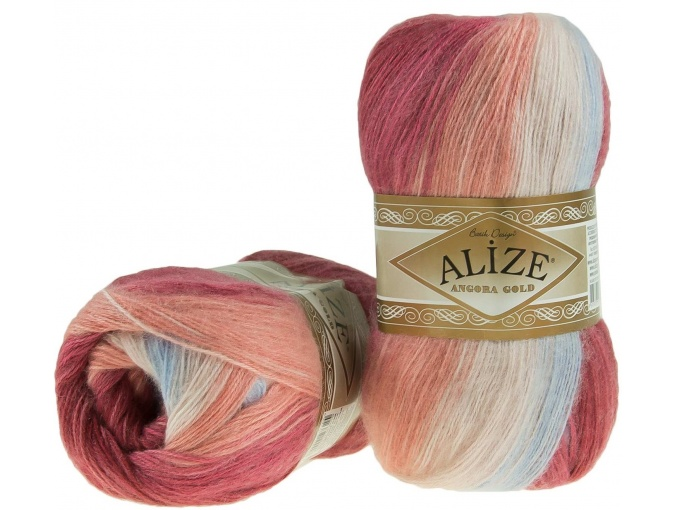 Alize Angora Gold Batik, 10% mohair, 10% wool, 80% acrylic 5 Skein Value Pack, 500g фото 56