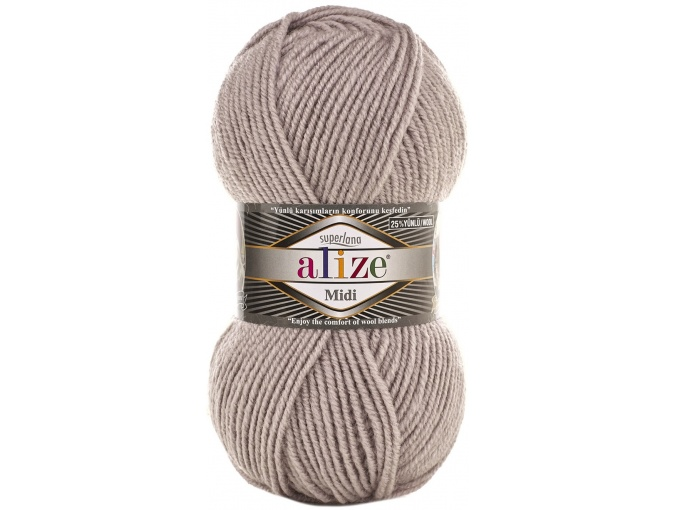 Alize Superlana Midi 25% Wool, 75% Acrylic, 5 Skein Value Pack, 500g фото 42