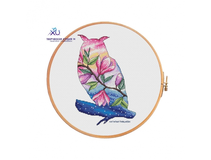 Owl. Spring Dawn Cross Stitch Pattern фото 1
