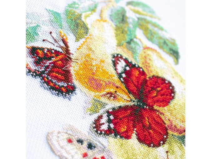 Butterflies and Pears Cross Stitch Kit фото 9