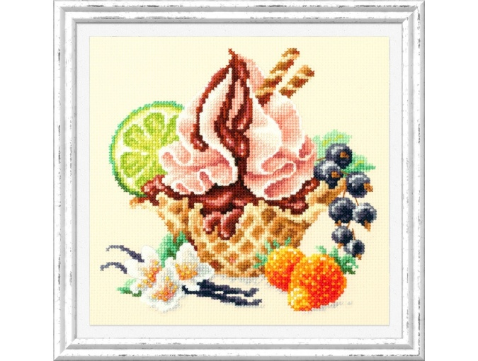 Vanilla Ice Cream Cross Stitch Kit фото 2