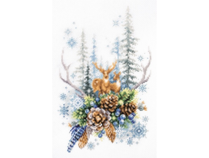 Winter Forest Spirit Cross Stitch Kit фото 9