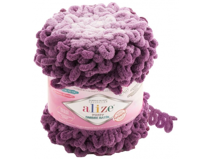 Alize Puffy Ombre Batik, 100% Micropolyester 1 Skein Value Pack, 600g фото 13