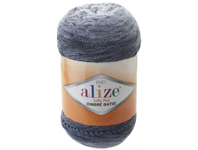 Alize Softy Plus Ombre Batik, 100% Micropolyester 1 Skein Value Pack, 500g фото 9