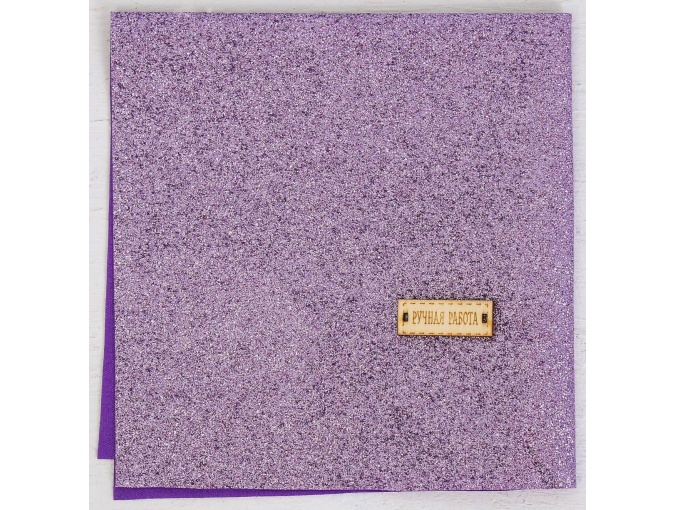 Lavender Dreams Glitter Faux Leather Patchwork Fabric фото 2