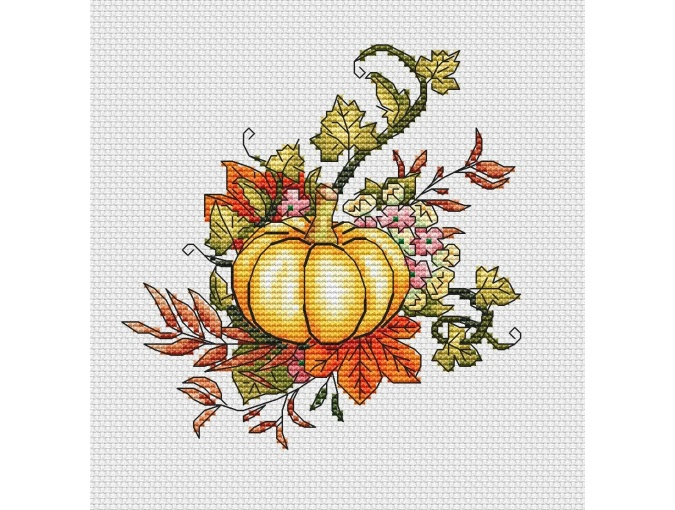 Ripe Pumpkin Cross Stitch Pattern фото 1