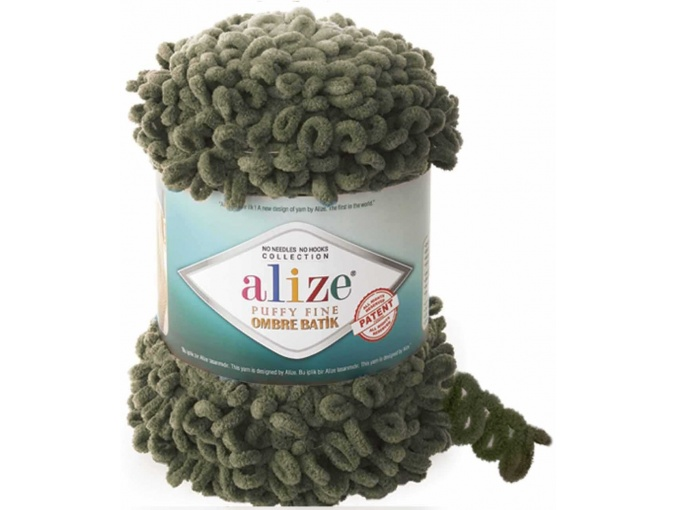 Alize Puffy Fine Ombre Batik, 100% Micropolyester 1 Skein Value Pack, 500g фото 14
