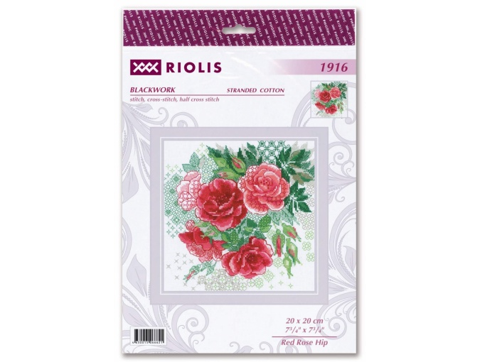 Red Rose Hip Cross Stitch Kit фото 2