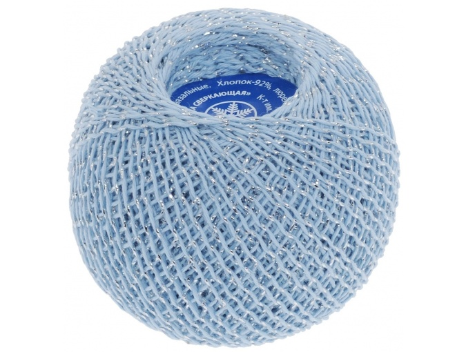 Kirova Fibers Sparkling Snowflake, 86% cotton, 14% lurex, 20 Skein Value Pack, 500g фото 6