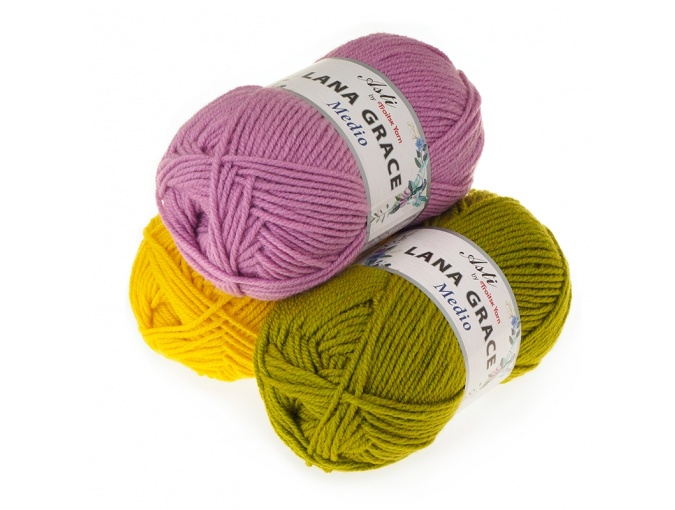 Troitsk Wool Lana Grace Medio, 25% Merino wool, 75% Super soft acrylic 5 Skein Value Pack, 500g фото 1