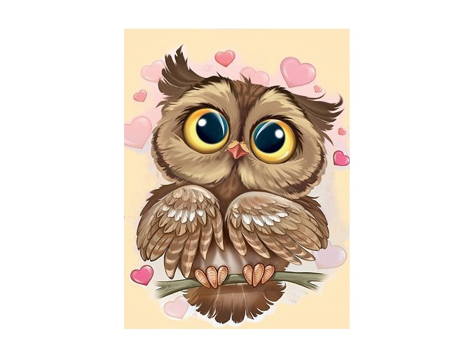 Owl in Love Diamond Painting Kit фото 1