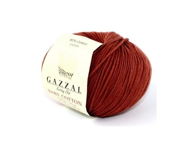 Gazzal Baby Cotton, 60% Cotton, 40% Acrylic 10 Skein Value Pack, 500g фото 88