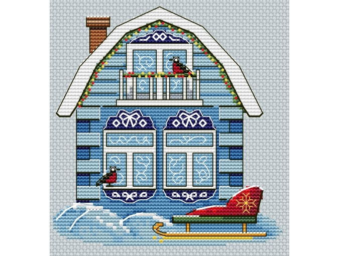 Ice House Cross Stitch Pattern  фото 1