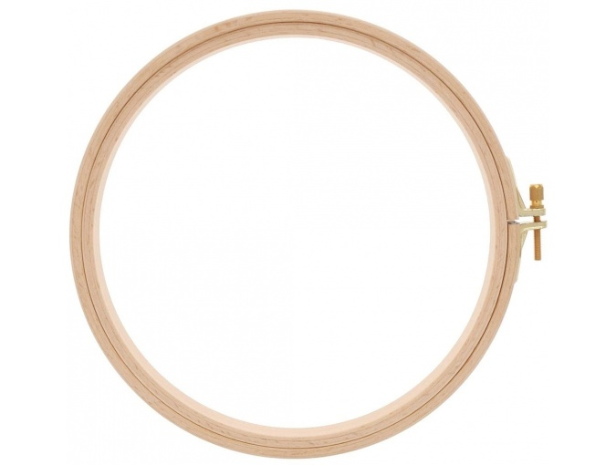 Screwed Wooden Embroidery Hoops 19cm/16mm фото 1