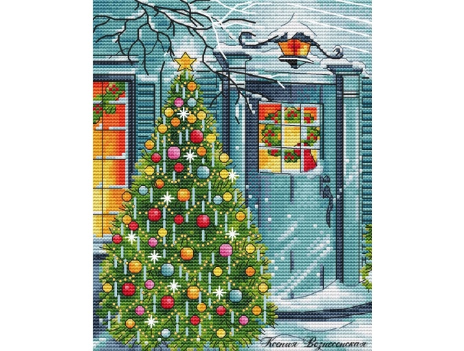 Christmas is on the Doorstep Cross Stitch Pattern фото 1
